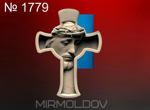 Силиконовый молд   Крест   №  1779