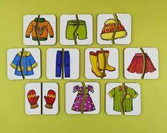 Картинки-половинки Одежда, ToySib
