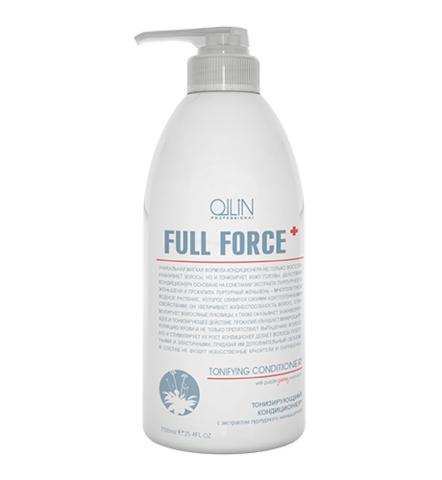OLLIN full force тонизирующий кондиционер с экстрактом пурпурного женьшеня 750мл
