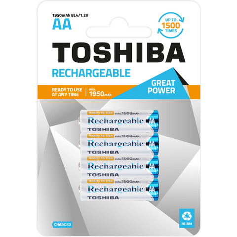 Аккумуляторы Toshiba R06, AA (1950mAh) Ni-MH АКЦИЯ!!!
