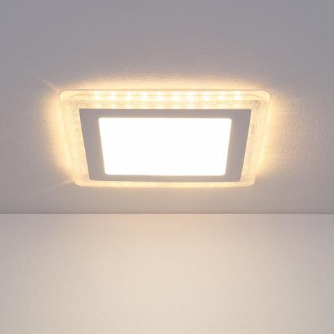 Встраиваемый потолочный светодиодный светильник DLS024 7+3W 4200K