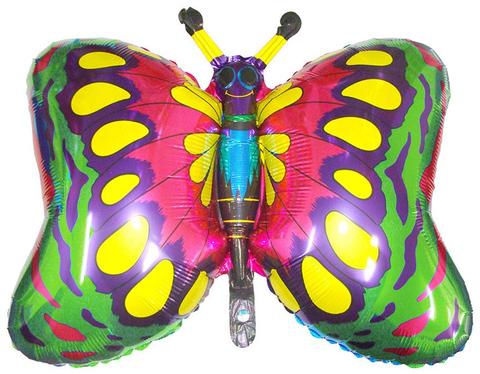 Фольгированный шар Бабочка Зеленая
