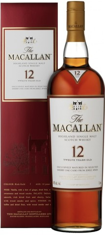 Виски Macallan 12 Years Old, gift box, 0.7 л