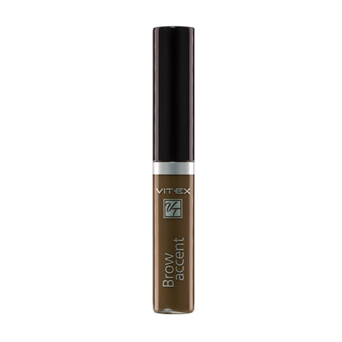 VITEX Гель оттеночный для бровей BROW ACCENT тон 02 Светло-коричневый 5мл