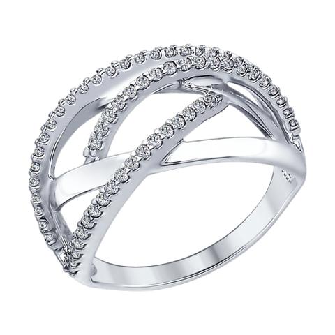 94012303-Кольцо из серебра с фианитами
