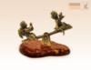 фигурка Ангелочек и Чертенок на качелях на янтаре