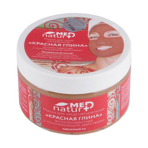 Маска для лица Красная глина 250мл НИИ Натуротерапии ТМ Натурмед