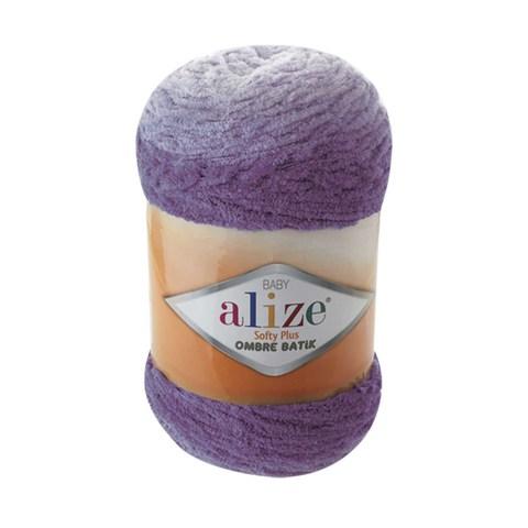 Купить Пряжа Alize Softy Plus Ombre Batik Цвет 7298 Сиреневый | Интернет-магазин пряжи «Пряха»