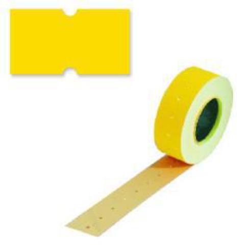 Этикетки 26х16 желтые прямой край TOVEL (800)