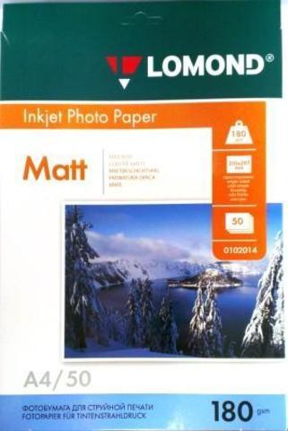Lomond Матовая бумага 1хА4, 180г/м2, 50 листов