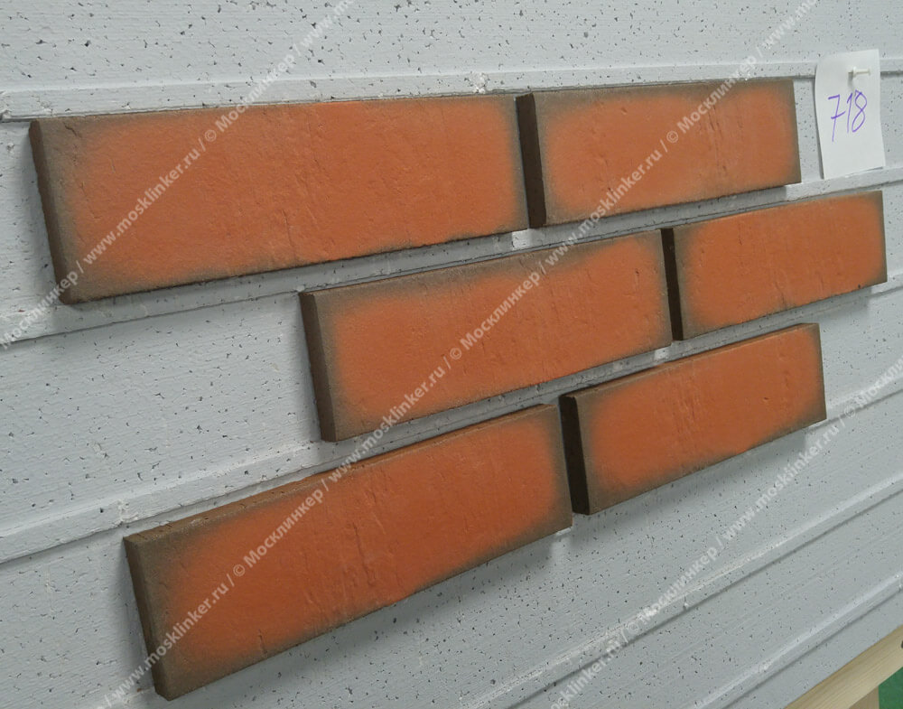 Feldhaus Klinker - R718NF14, Accudo Terracotta Vivo, 240x14x71 - Клинкерная плитка для фасада и внутренней отделки