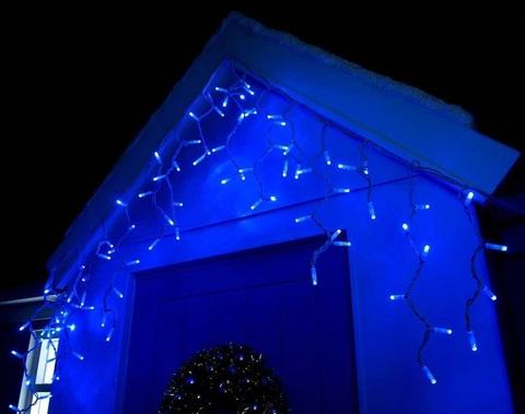 уличная светодиодная бахрома 2 метра на 0,5 м синий цвет