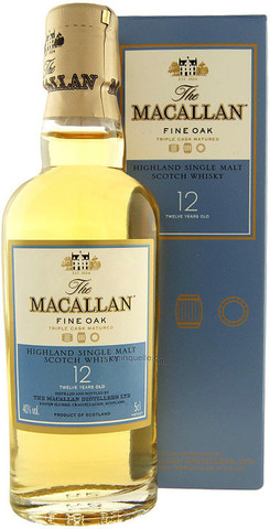 Виски Macallan Fine Oak 12 Years Old, with box, 0.05 л