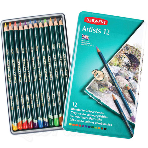 Набор из 12 цветных карандашей Derwent
