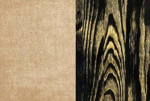 Ткань/Массив, Бентлей Какао/Черная эмаль с патиной Золото (браширование)