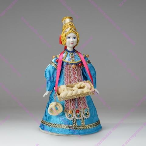 Сувенирная кукла - Булочница