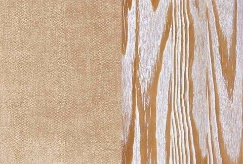 Ткань/Массив, Лофти Бежевый/Латте с белой патиной (браширование)