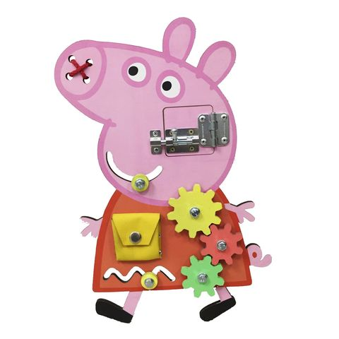 Бизиборд BUSY KIDS Бизидоска Свинка Пеппа