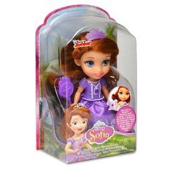 Disney Кукла София Прекрасная (15 см, расчёска, фиол.)