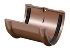Муфта желоба коричневая пластик