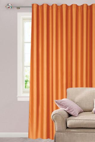 Готовая штора креп Дениз светло-оранжевый