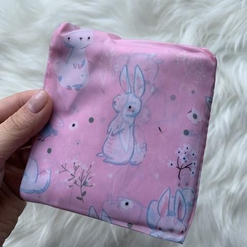 Сумка для покупок маленькая /розовые кролики/