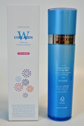 ENOUGH W Тонер для лица осветляющий W Collagen Whitening Toner 130мл