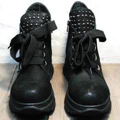 Женские ботинки сникерсы Rifellini Rovigo 525 Black