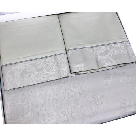 Постельное белье Josephine серый жаккард deluxe TIVOLYO HOME Турция