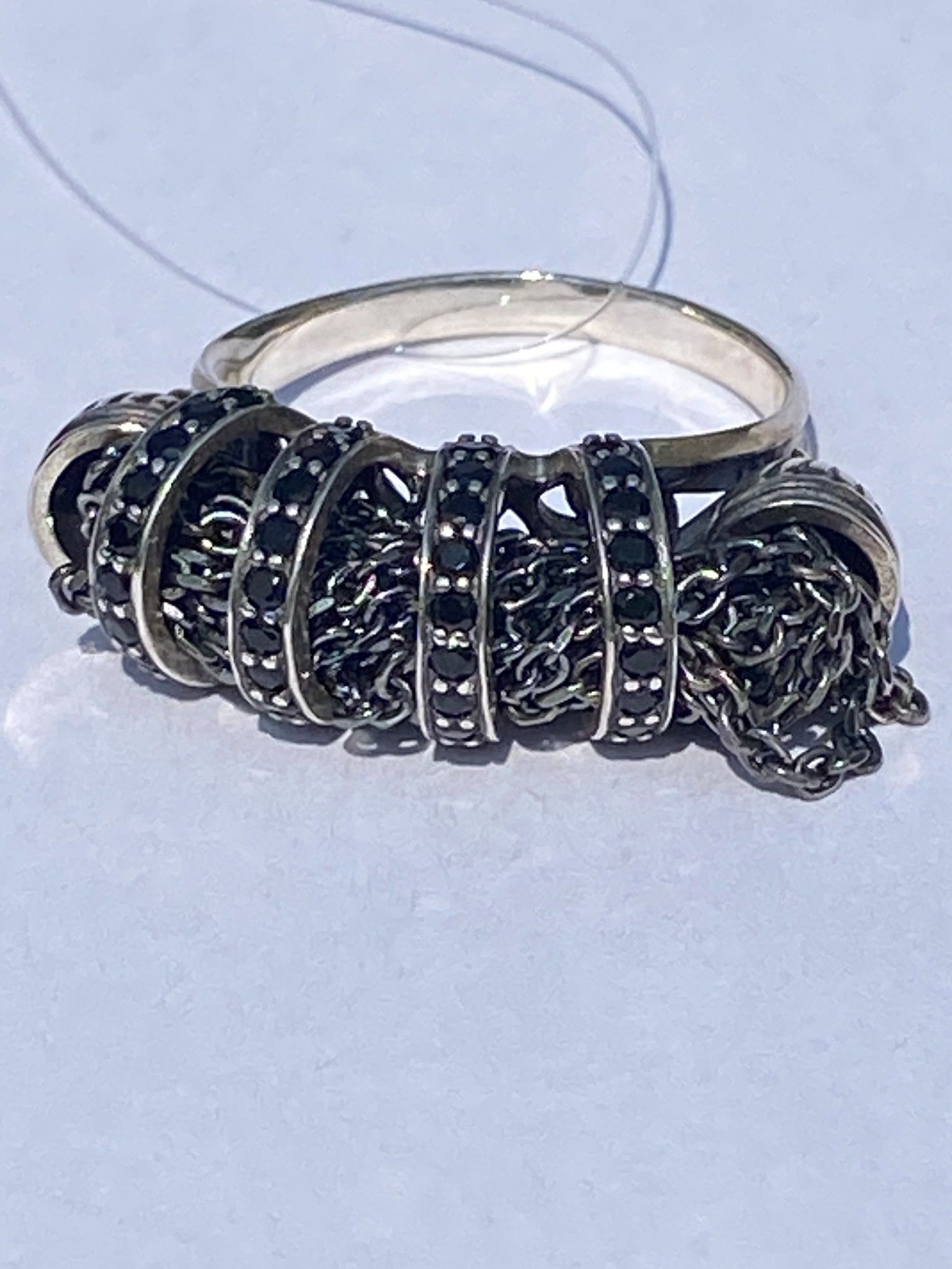 0121469-черный (кольцо из серебра)