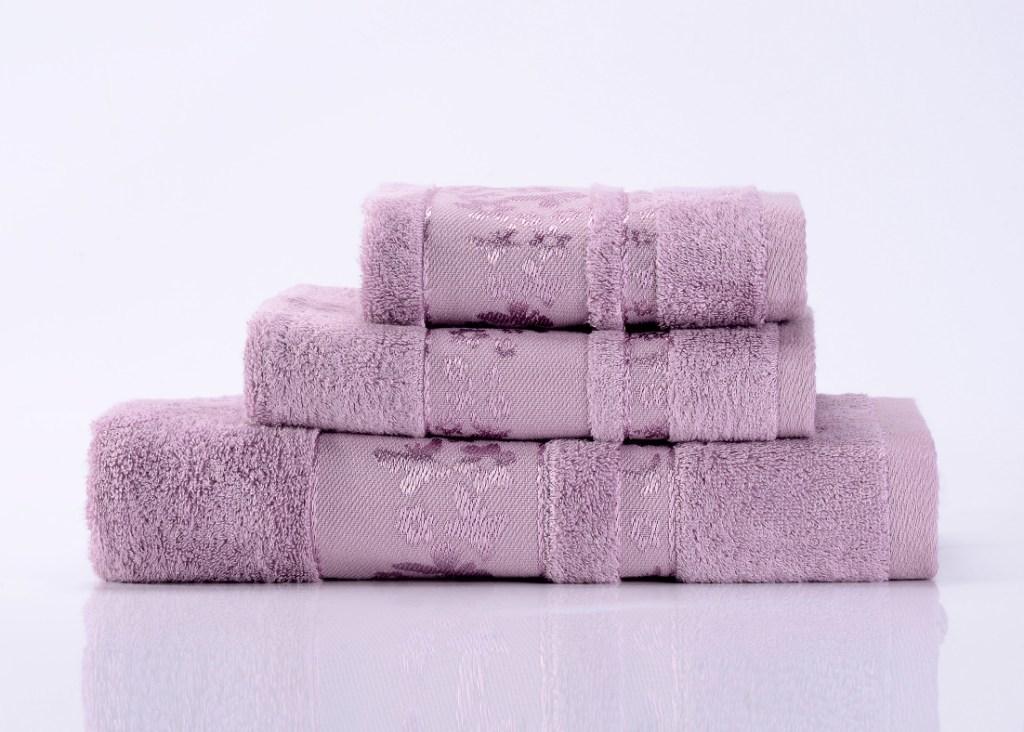 Полотенца Emily-6 сиреневое  махровое  полотенце Valtery emily-6-polotentse-bannoe.jpg