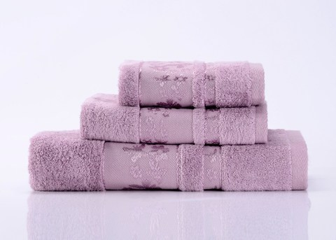 Emily-6 сиреневое  махровое  полотенце Valtery