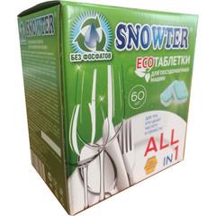 Таблетки для посудомоечных машин Snowter All in 1 ЭКО (60 штук в упаковке)