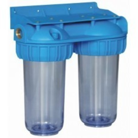Магистральный фильтр ITA-25-1/2 (прозрачный, 2 колбы) (ИТА), арт.F20125