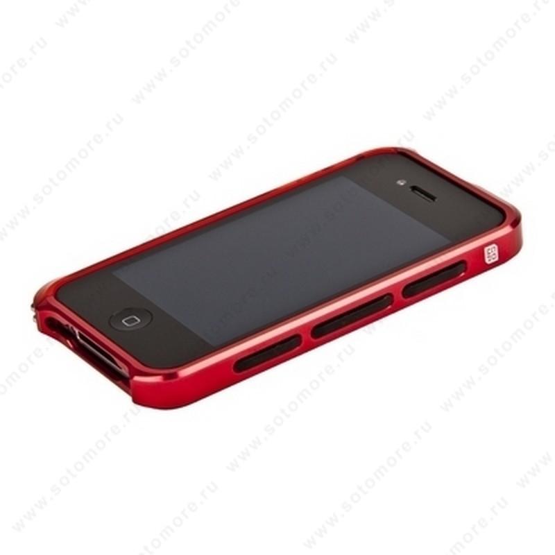 Бампер ELEMENT CASE Vapor 4 алюминиевый для iPhone 4s/ 4 красный