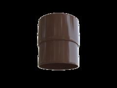 Муфта трубы коричневая пластик