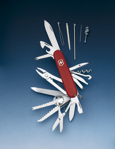 Нож Victorinox SwissChamp, 91 мм, 33 функции, красный