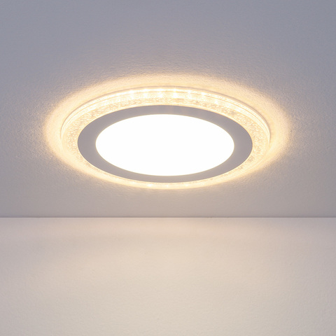 Встраиваемый потолочный светодиодный светильник DLR024 7+3W 4200K