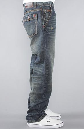 Джинсы широкие синие потертые LRG фото 4