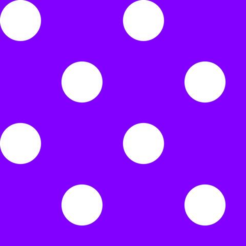 Креп сатин фиолетовый в белый горох 1 см