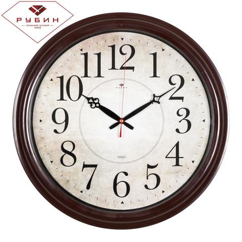4840-002 (5) Часы настенные круглые d=48 см, корпус коричневый