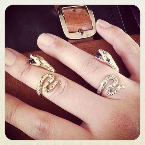 Кольцо Змея серебристая