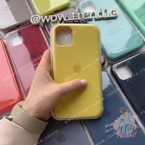 Чехол iPhone 11 Pro Silicone Case Full /canary yellow/