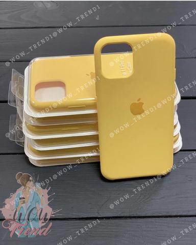 Чехол iPhone 11 Pro Max Silicone Case /canary yellow/ канареечный 1:1