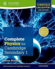 Cambridge Checkpoint Science Secondary 1, Physics Oxford University Press