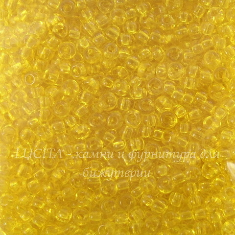 80010 Бисер 10/0 Preciosa прозрачный ярко-желтый