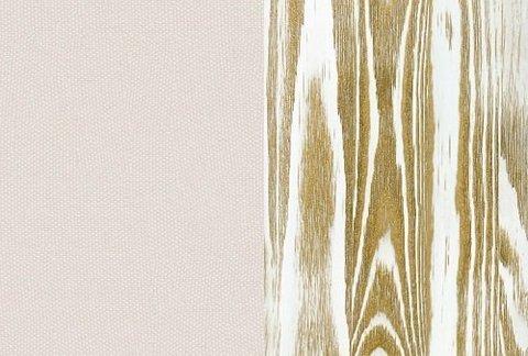 Ткань/Массив, Тетра Молочный/Белая эмаль с патиной золото (браширование)