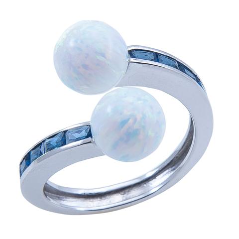 Кольцо из серебра с опалом Арт.1085ок сапф