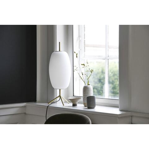 Лампа настольная Silk, D20 см, белое опаловое стекло