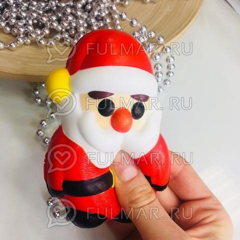 Дед Мороз-Красный Нос новогодняя сквиши игрушка антистресс